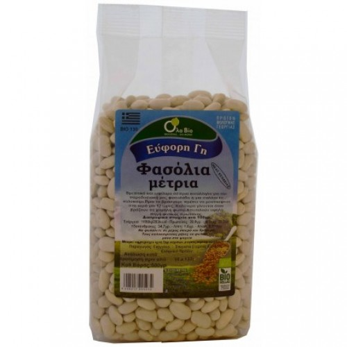 WHITE BEANS MEDIUM GREEK BIO 500gr