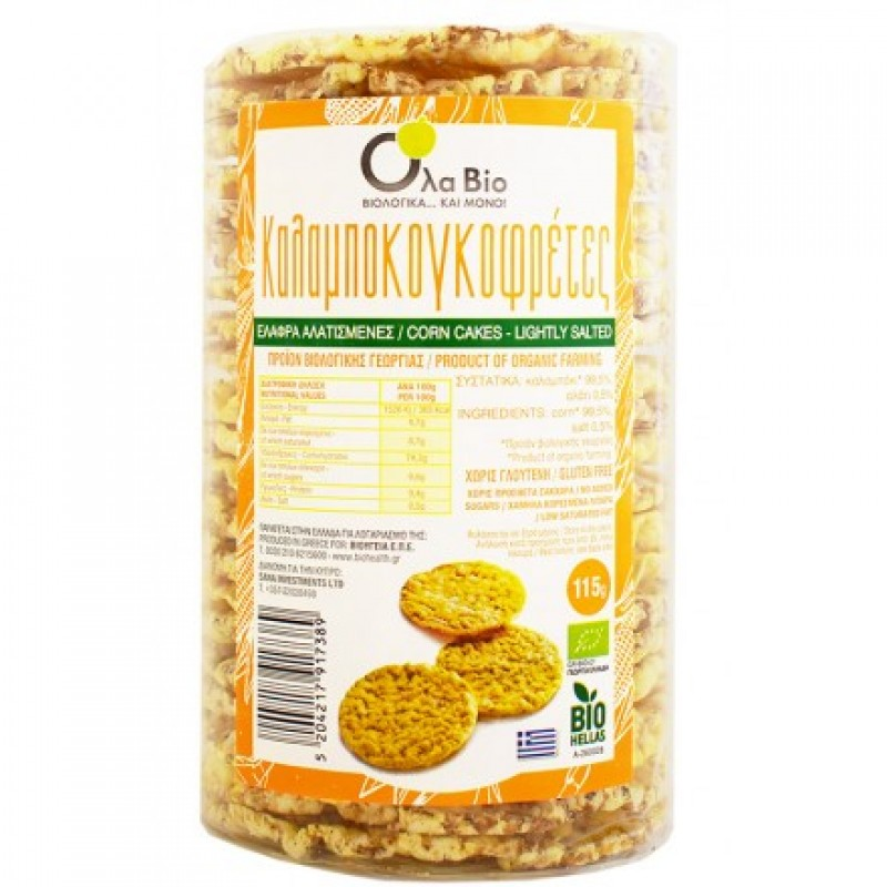 Corn cakes with salt ΒΙΟ 115gr