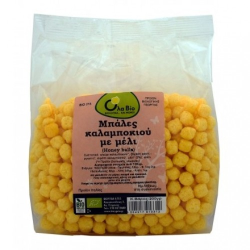 Corn balls with honey ΒΙΟ 200gr