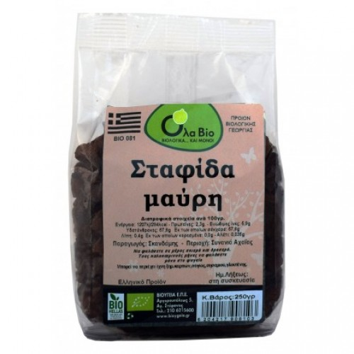 Raisins black BIO 250gr