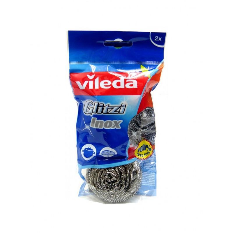 VILEDA GLITZI INOX SPIRAL SCOURER   2PCS
