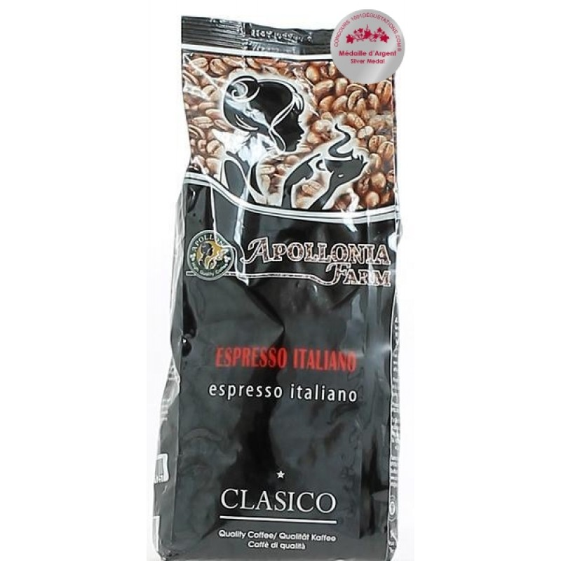 Apollonia Farm Cafe Espresso Italiano 80% Arabica  &  Robusta 20% 1kg