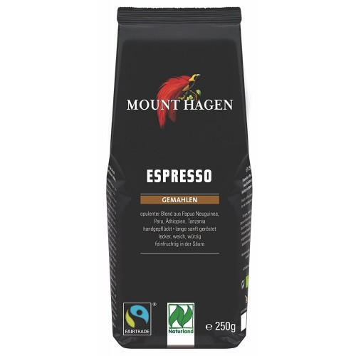 Organic Coffee Espresso Grilled Mount Hagen 250gr