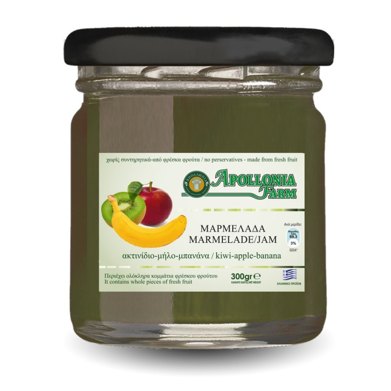 Kiwi-Banana-Apple Jam 300gr