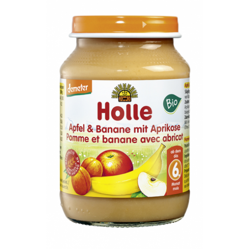 Apple apple, banana and apricot in a jar, 190gr