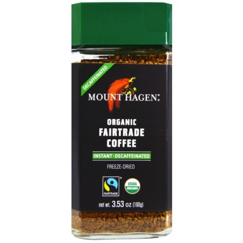 organic coffee INSTANT - DECAFFEINATED  100gr MOUNT HAGEN