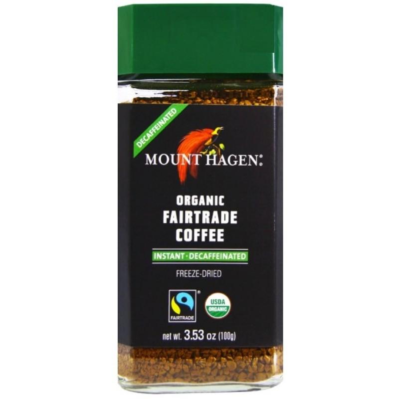 organic coffee INSTANT - DECAFFEINATED  100gr MOUNT HAGEN