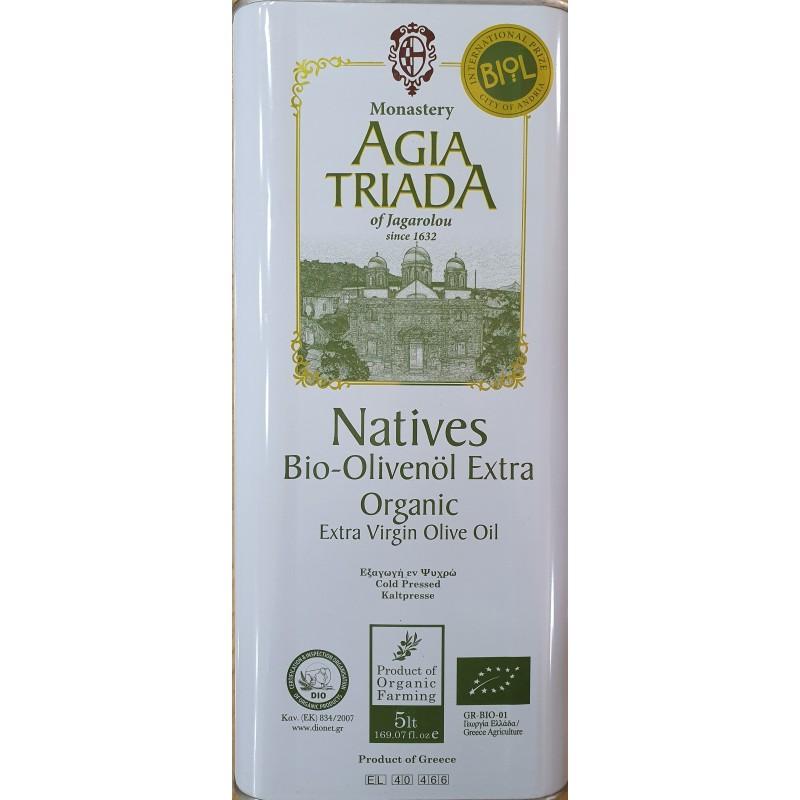 Olive oil Extra virgin  Organic 5L - Holy Trinity Monastery